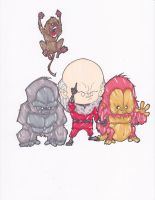 RED GHOST AND SUPER-APES by hclix