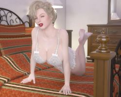 Pin Up Girl at home by Redrobot3D
