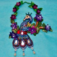 Peacock wall hanging by CreativeCritters