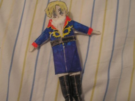 Ghinius doll in Zeon uniform. by Androidraptor