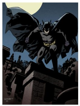Golden Age Batman by Chris Samnee (Colors by me) by DanHaring