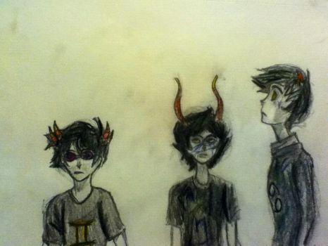 Gamzee, Sollux, and Karkat by TheDoctor-Rose-Jaime