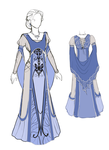 Blue dress design by EulaliaDanae