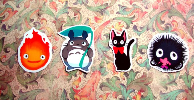 Ghibli Stickers by Valen-LaRae