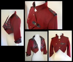 Red Military Style Coat by nolwen