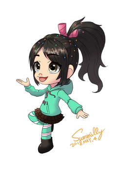 Remake old drawing - Vanellope (no background) by summilly