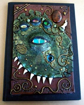 Beast Journal Polymer Clay by MandarinMoon