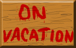 On Vacation sign by JuacoProductionsArts