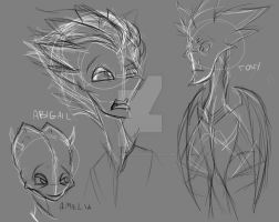 Abigail Hardscrabble Back Story Sketches by Mad--Munchkin