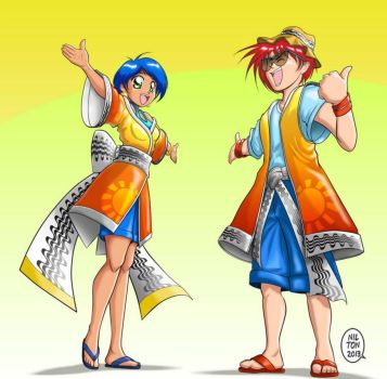 New mascots of the event - Boy and Girl by Nasnet