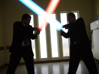 Missionary Lightsaber Duel by The-Elegant-Machine