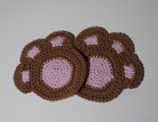 Paw Coaster Crochet Pattern - No Sew -PDF Download by Zalarnia