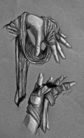 Hands and Cloth Study by EchoLanding
