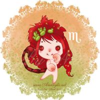 Astrological sign scorpio by Nailyce