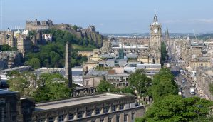 Princes St from Calton Hill by bobswin