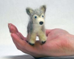 Needle Felted Husky Dog by The-GoblinQueen