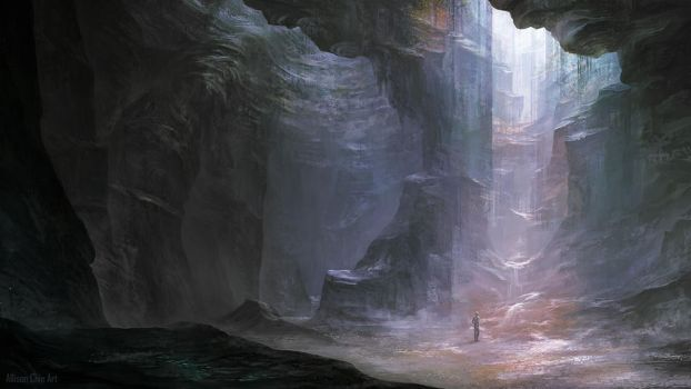 The Sand Cavern by allisonchinart