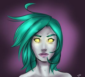 Undead rogue sketch by lonelion4ever