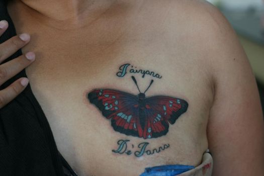 Butterfly Coverup by Lucky-Cat-Tattoo