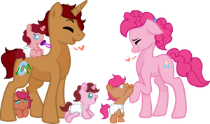 FlamePie Family by SummerSketch-MLP