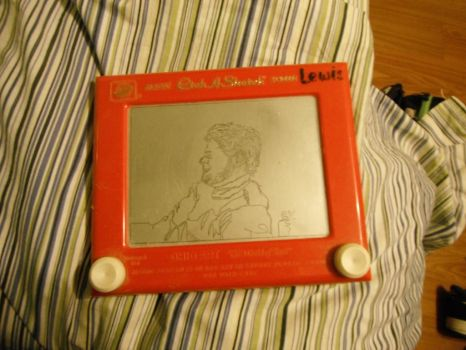 Etch-A-Sketch of a Friend by TheVise