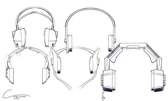 D29 - Headphone Sketches by ComplxDesign
