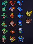 Pokemon Starter Sets [SOLD] by Aenea-Jones
