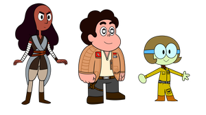 Steven Universe The Last Jedi Test Modelsheets by MarkHoofman