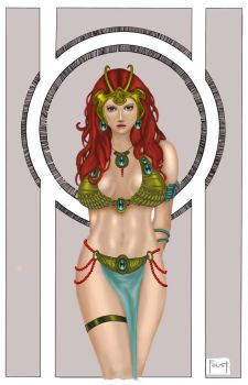 colored Dejah Thoris by shtalrydbetty
