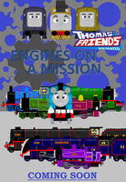 TandFA Engines on a Mission Poster by JamesFan1991