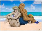 Sue and Ben at The Seaside - All Tan and Colored by yatz