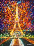 Eiffel Tower Memories by Leonid Afremov by Leonidafremov