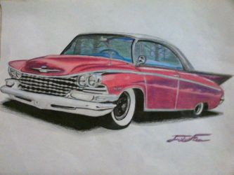 1958 pink Buick Electra  by captaincrunch1950