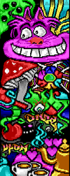 ANSI LAND by bw by binarywalker