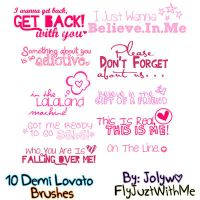 ddLovato Brushes by FlyJuztWithMe