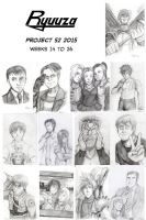 Project 52 2015: Weeks 14 to 26 by ryuuza-art