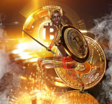 Personification of the Bitcoin by Hera-of-Stockholm