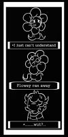 (Flowey ran away) by SilvaLucyStar