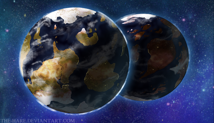 The Twin Planets: Updated by TheVerdantHare