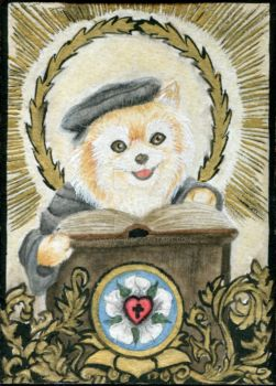 ATC/KAKAO #029 - Golden Luther Pom by VikaVorik