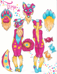 .:Fursona Reference:. Tipsy Candypaws UPD8! by MariusOfTheSea