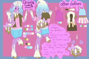 Drizzle Cake furry ref sheet by eyfexi