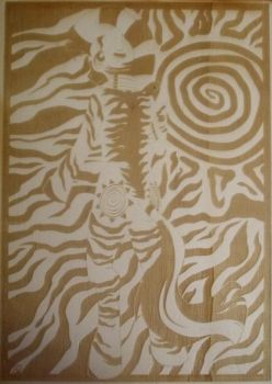 Zecora (Laser engraving on plywood) by HelixWonder