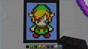 MineCraft Link Pixelart by Ironwox