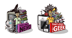 NERD Vs GEEK by crazydesignerylr