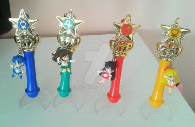 Sailor Moon Gashapon Rods and Keychains by Naneia