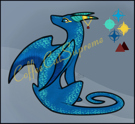 Auction - Adopt - Sitting Dragon - #002 [OPEN] by CoffeeCatSupreme