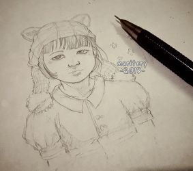 :: WIP girl and Hat :: by maritery-san