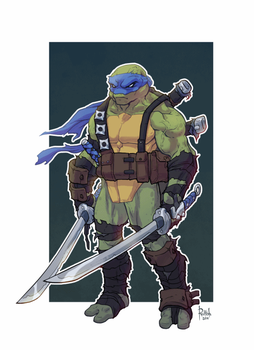TMNT Leonardo Animation by AlexRedfish