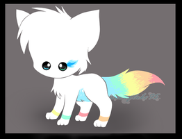 Rainbow kitty adopt CLOSED by Adoptsnowie95